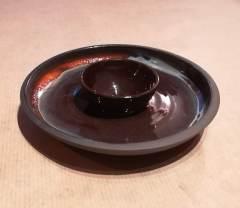 coquetier, faïence émaillée, 12 cm