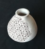 Vase grès, L:10 cm, H:14cm